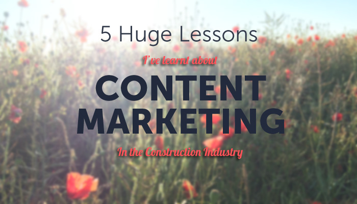 Content marketing in construction